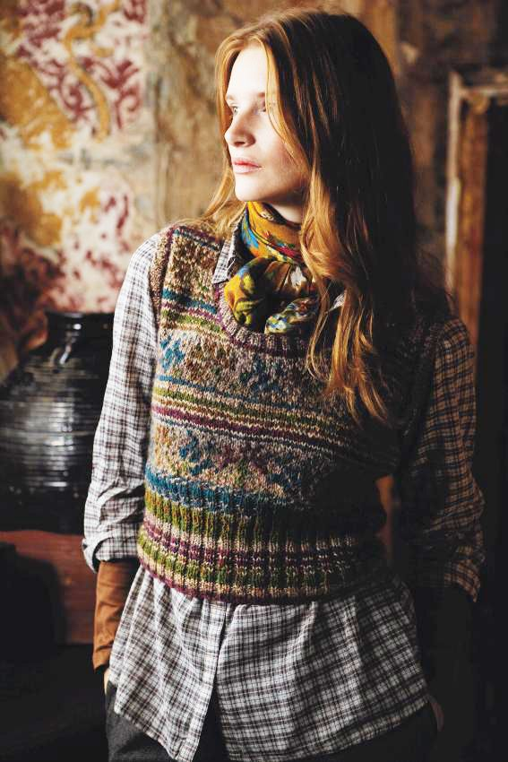 Ukraine by Marie Wallin, made in Rowan Colourspun and Tweed ...