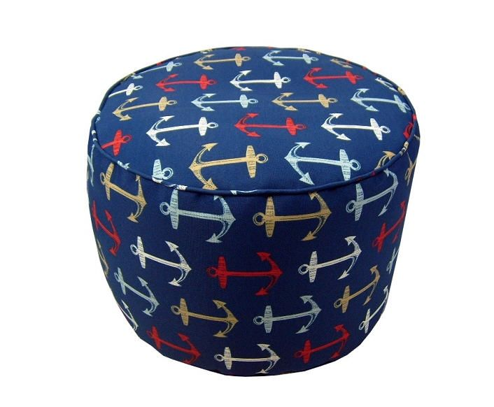 Colorful Anchor Pouf And Other Coastal And Nautical Theme Designs New Anchor Pouf