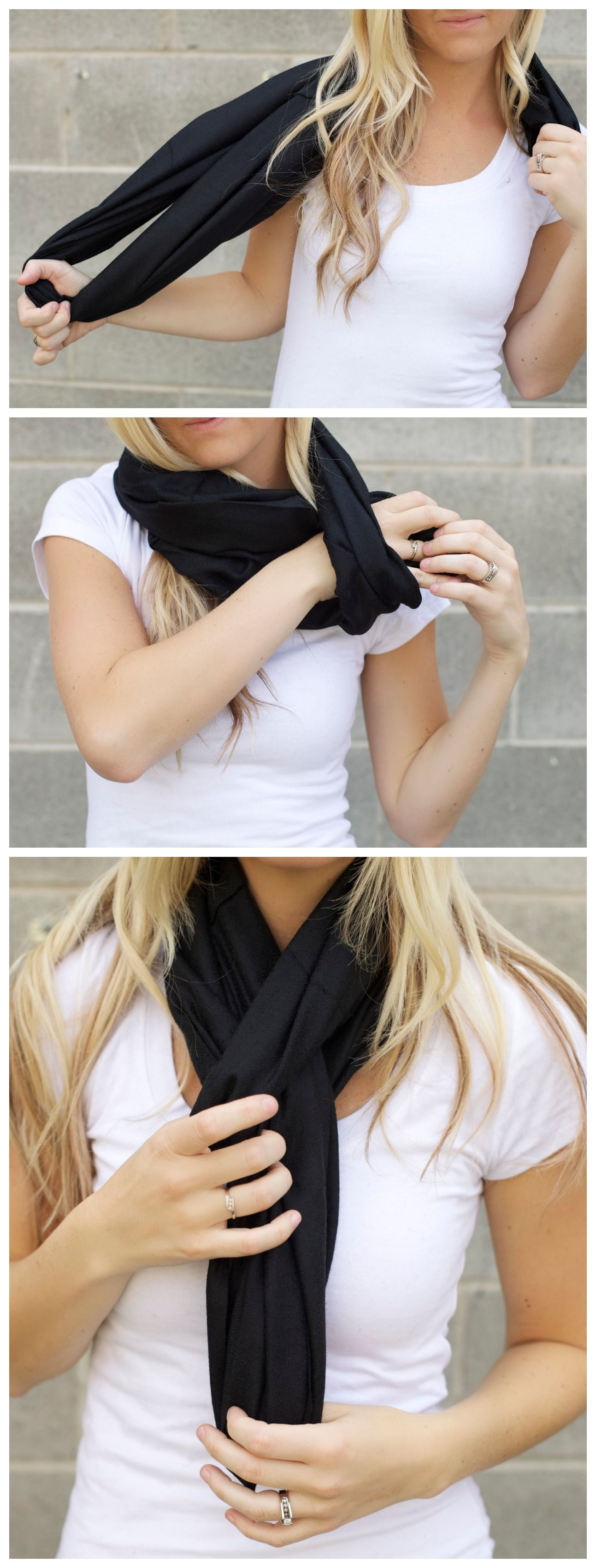 Cute Ways To Do Makeup For Prom: Another Super Easy Cute Way To Wear Your Infinity Scarf