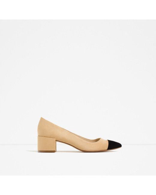e1509733628e3 Zara | Multicolor Mid-heel Shoes With Contrasting Toe Cap | Lyst ...