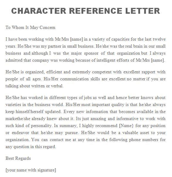 Reference Letter   Reference Letters    Reference