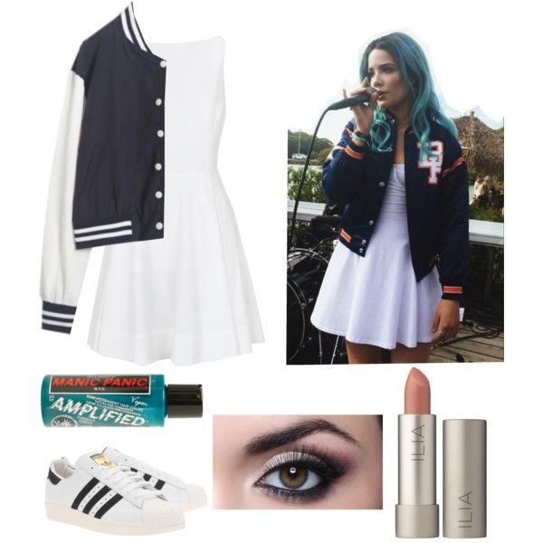 Halsey style steal/ Halloween costume by stealmyguy on Polyvore featuring Polo Ralph Lauren, adidas Originals, Ilia and Manic Panic NYC