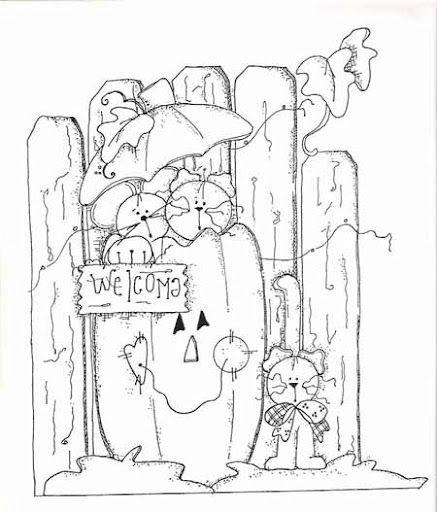 CRIS ARTE PAYS DE RISCOS 2584 Halloween PicturesGarden GateEmbroidery PatternsHalloween EmbroideryAdult Coloring
