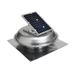 Master Flow 500 Cfm Solar Powered Roof Mount Exhaust Fan Prsolar The Home Depot Solar Roof Exhaust Fan Solar Power