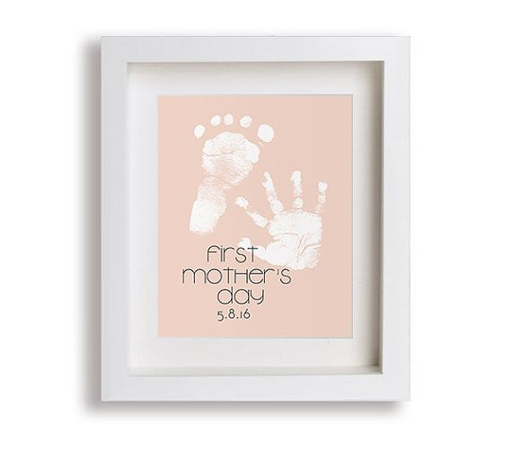 First Mothers Day 2016 Art Print Personalized por NikoAndLily