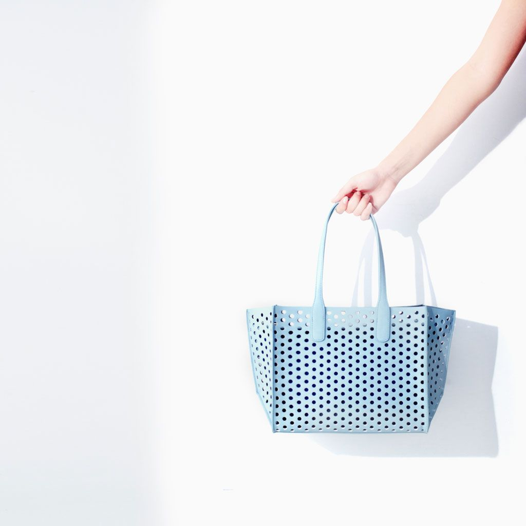 f8730a95 Image 3 of PERFORATED MINI SHOPPER from Zara | *Shoes* and *Bags ...