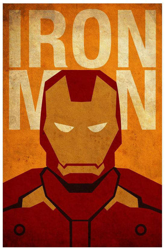 d254fc5b912 Vintage Minimalist Ironman Poster A3 Prints by MyGeekPosters ...