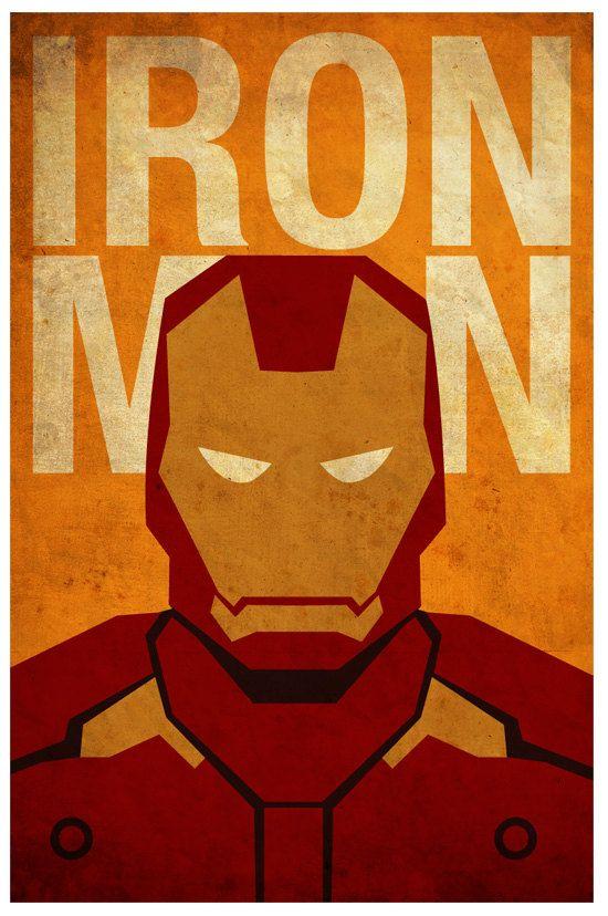 Vintage minimalist ironman poster prints minimalist - Poster super heros ...