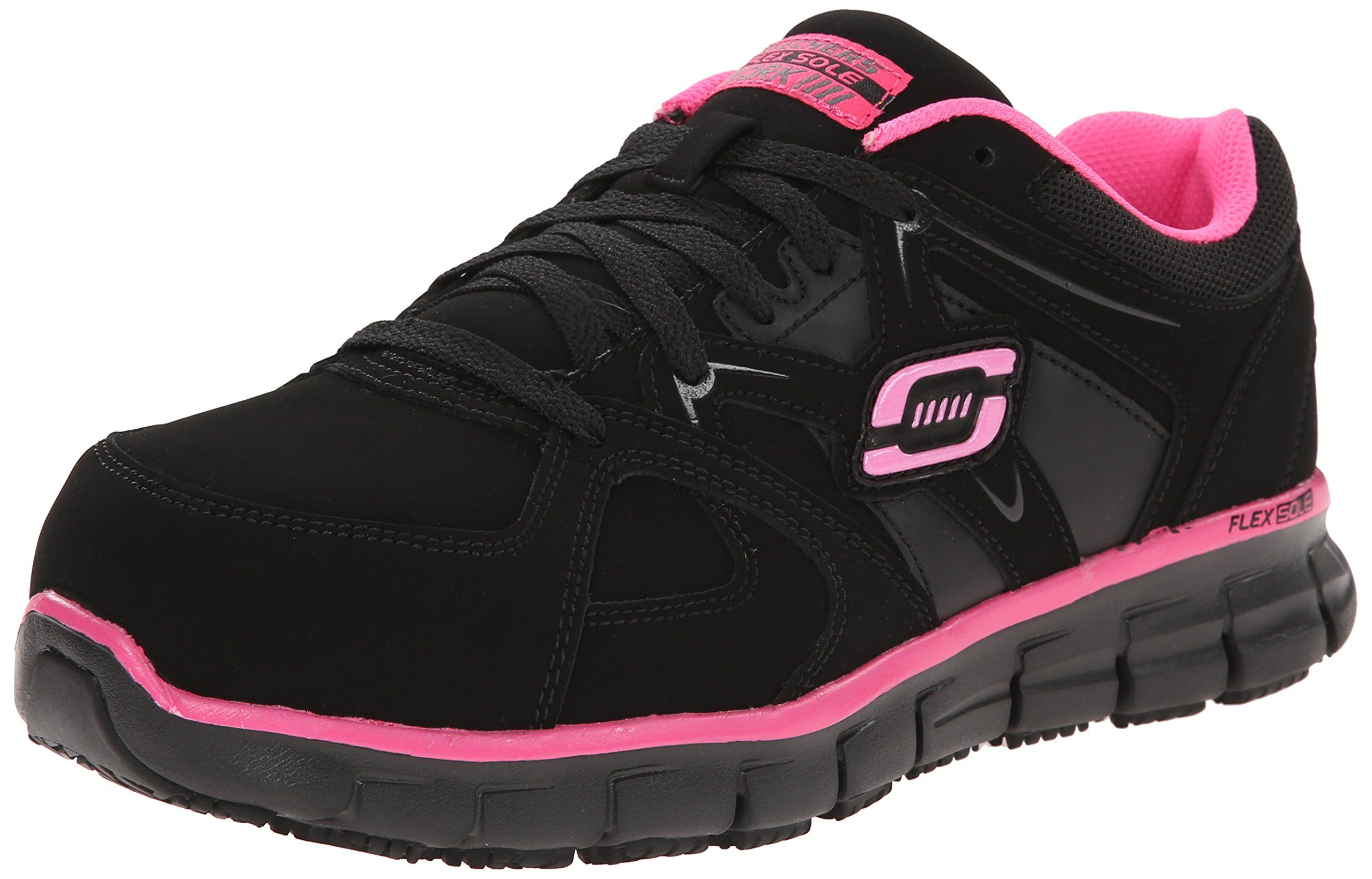 Skechers for Work Womens Synergy Sandlot Alloy Toe Lace Up
