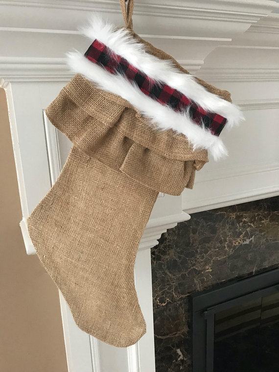Buffalo Plaid Christmas Stocking Buffalo Plaid Christmas