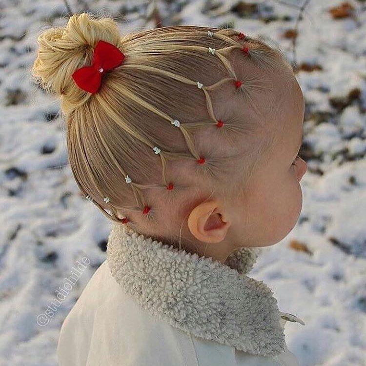 Cute Look For Little Girls With Fine Hair Haar Kinderen Kind Haar Baby Haar Meisje