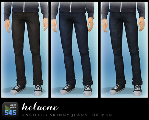 Sims 4 male skinny jeans cc
