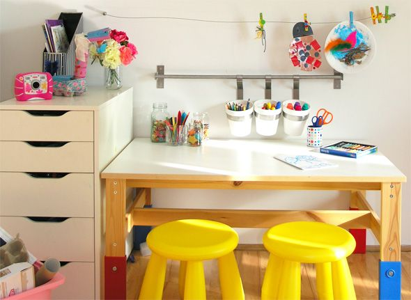 Art Desk For Teenager Kids Art Table Kids Rooms Diy Kids Art Space