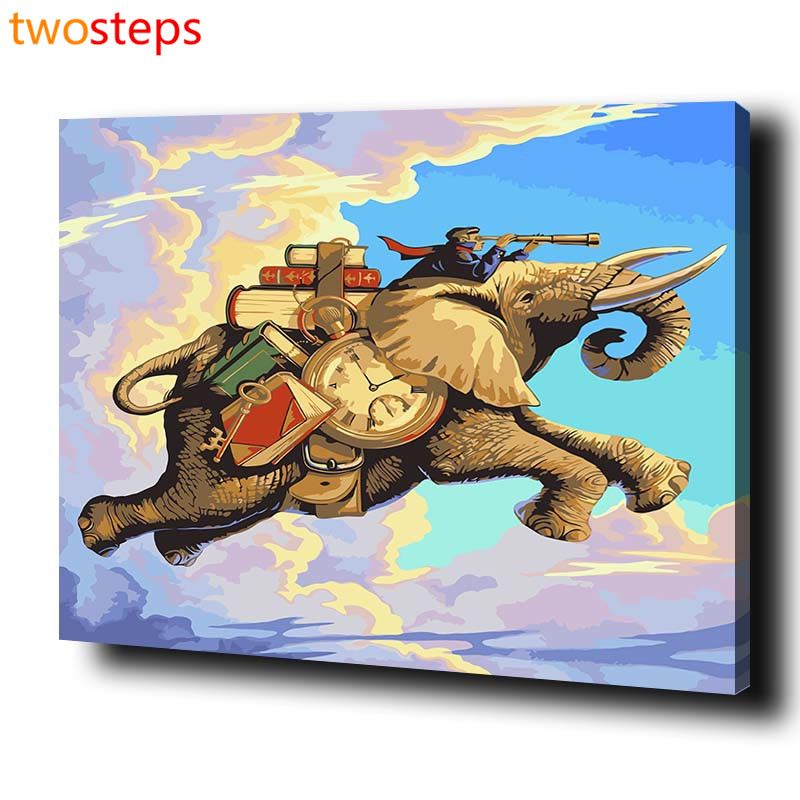 Twosteps Diy Digital Canvas Oil Painting By Numbers Coloring By Numbers Modern Large Acrylic Paint B Colouring Wall Art Oil Painting Pictures Wall Art Pictures