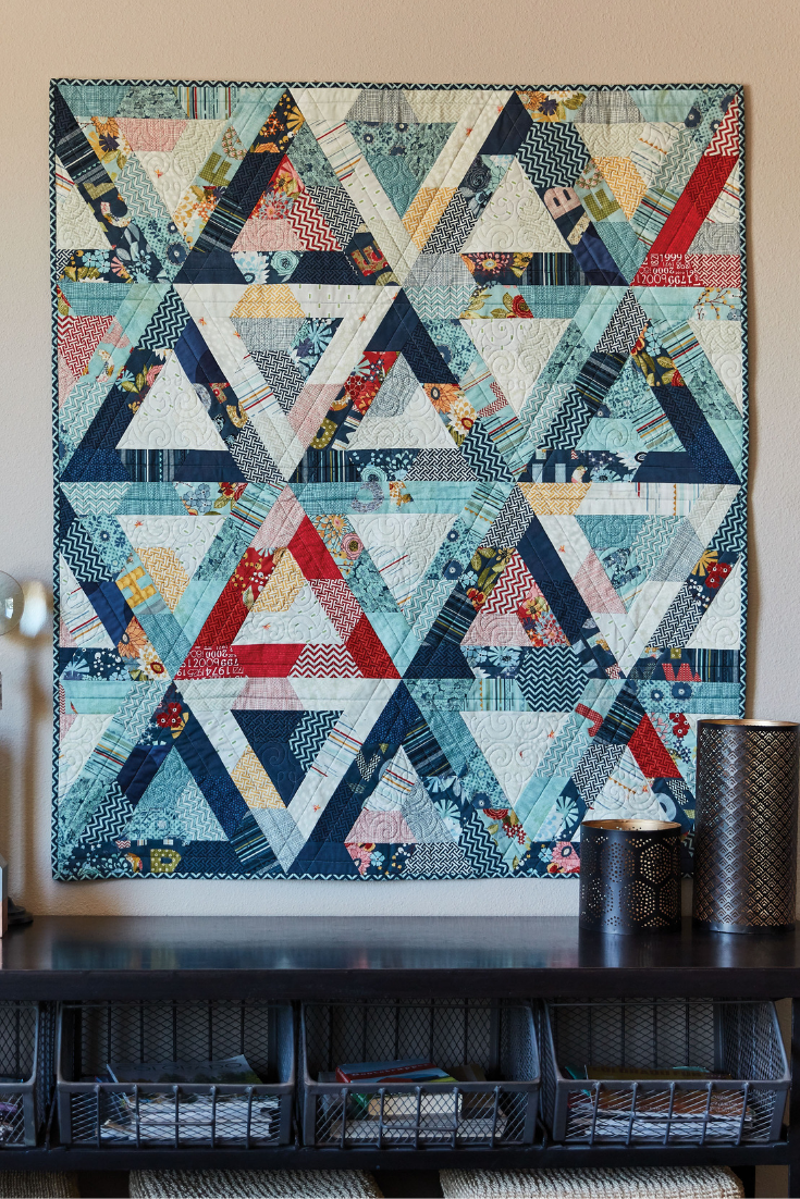 This Quilt Is A Magical Blend Of Value Color And Shape All Creating An Ingenious Pattern Of Tr Japanese Quilt Patterns Quilt Patterns Triangle Quilt Pattern