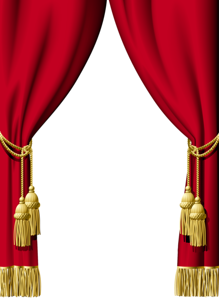 Red Curtain Decoration Png Clipart Curtains Vector Red Curtains Stage Curtains