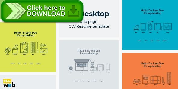 Free Nulled Mydesktop  One Page Personal CvResume Template
