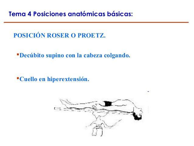 Resultado de imagen de posicion roser o proetz | Localización de ...
