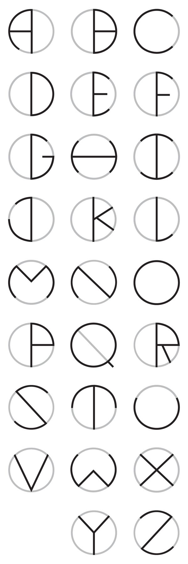 Circle Typeface by Oscar Lopes, via Behance