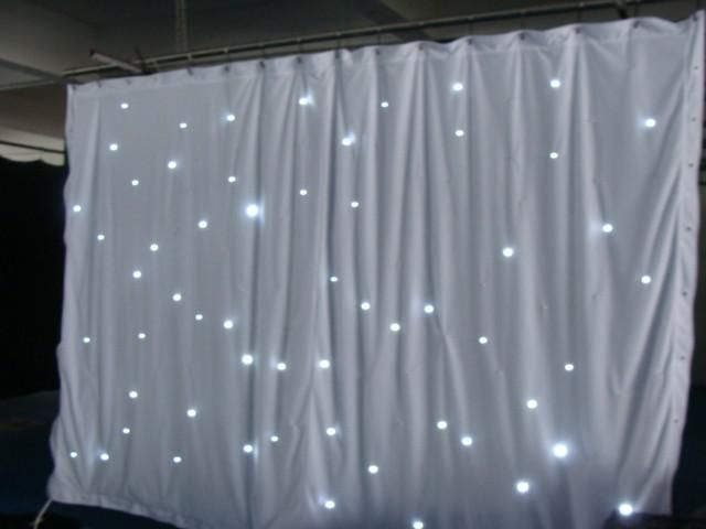 Professional Supplier 6x3m Smd5050 Led Wedding Star Cloth Curtain Lights With White Fireproof Velour Curtain Backdrop Wedding Backdrop Frame Curtain Backdrops