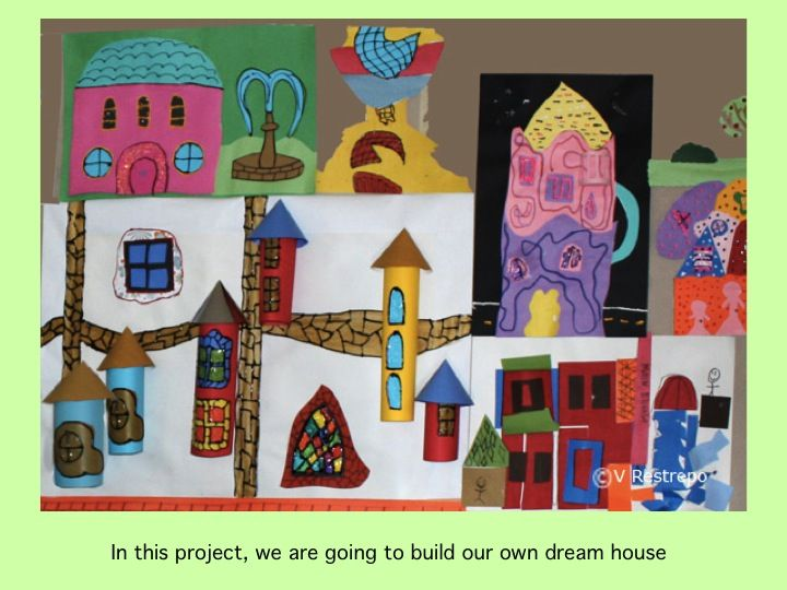 Art Project For Kids How To Make A Hundertwasser Dream House Hundertwasser Buildings Were