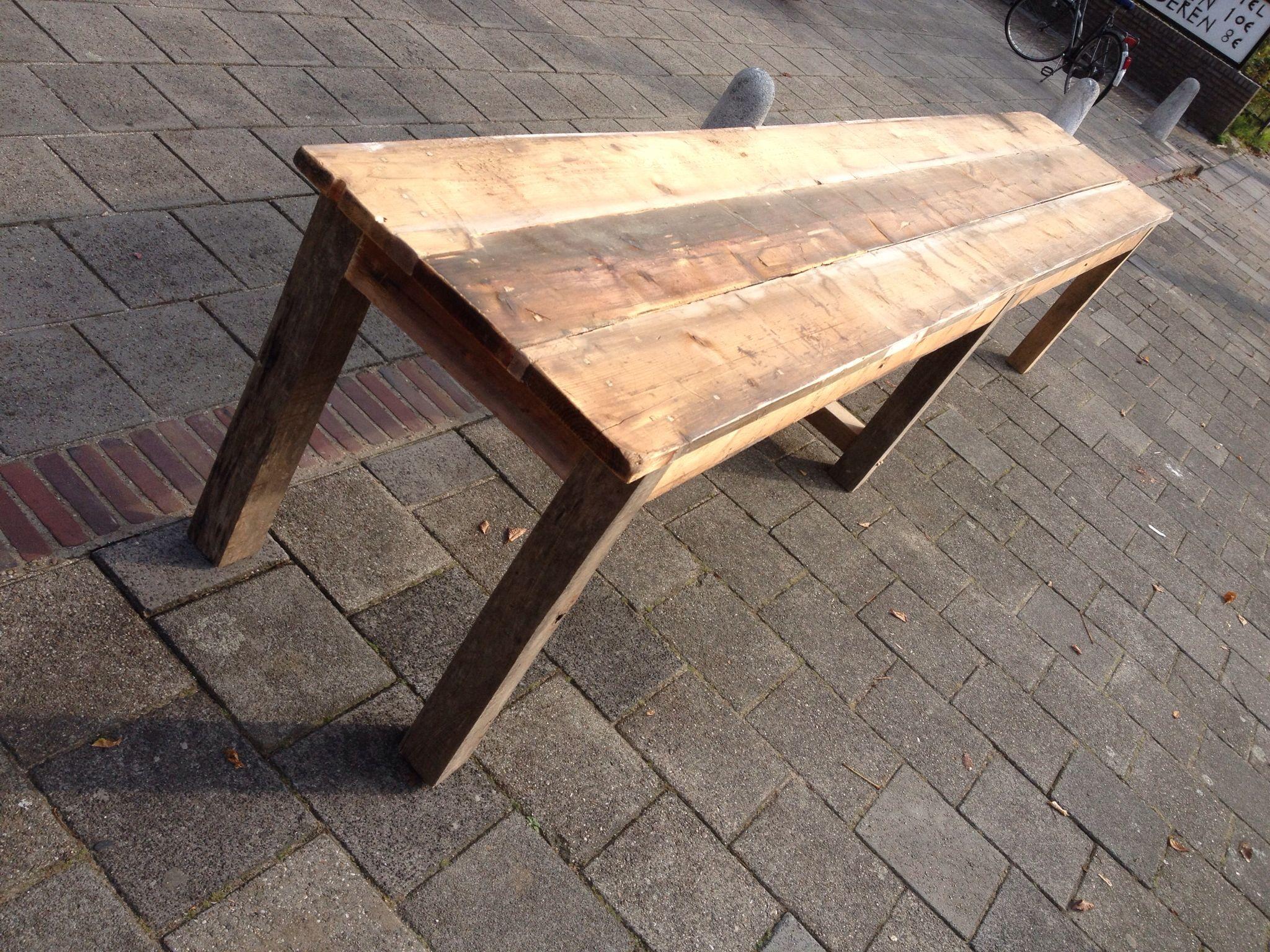 Boeren tafel oud hout franse tafel tafels uit eigen ontwerp