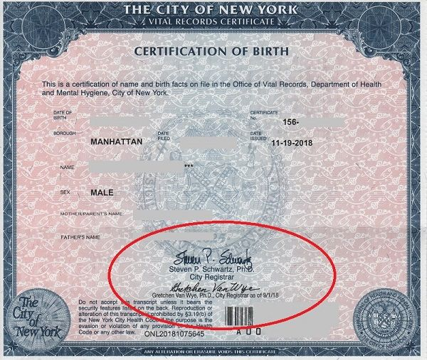 Short Form Birth Certificates Are Acceptable For New York