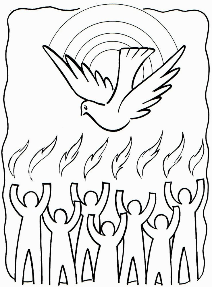 Holy Spirit Coloring Pages Pentecost Sunday School Coloring Pages Holy Spirit Craft
