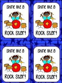 Shine Like a Rock Star Gift Tags from ABSeymour on TeachersNotebook.com -  (7 pages)  - Attach glow sticks to these gift tags for a reward or prize for your kiddos!