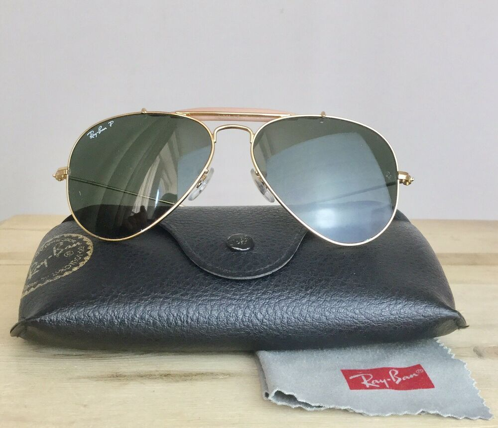 fa45d88a5c6a0 Vintage Ray Ban Aviators 1960s Gold Frame Polarised Italy RB3407 001 58  55014