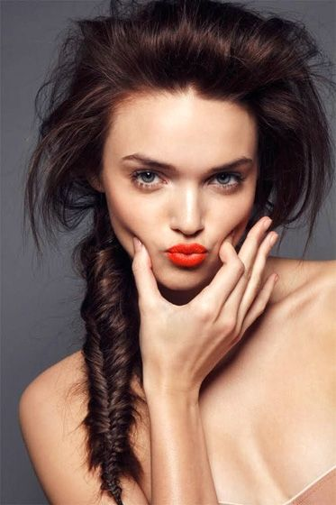 fishtail braid, volume