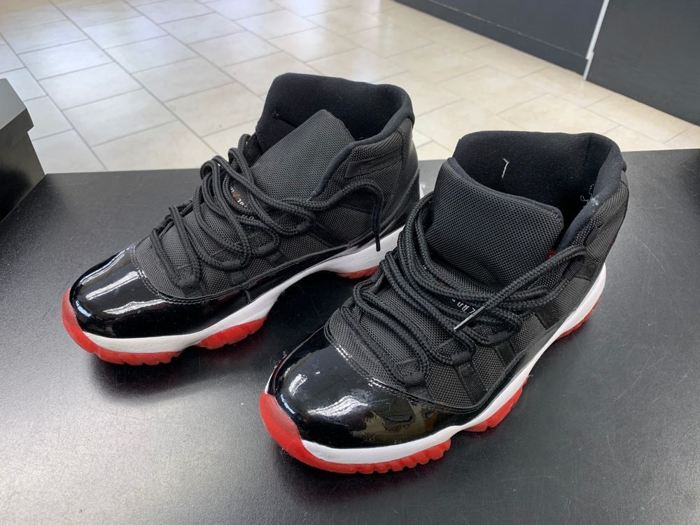 separation shoes 36cad 906aa Nike Air Jordan Retro XI Bred Black Red CDP Size 10 136046 ...