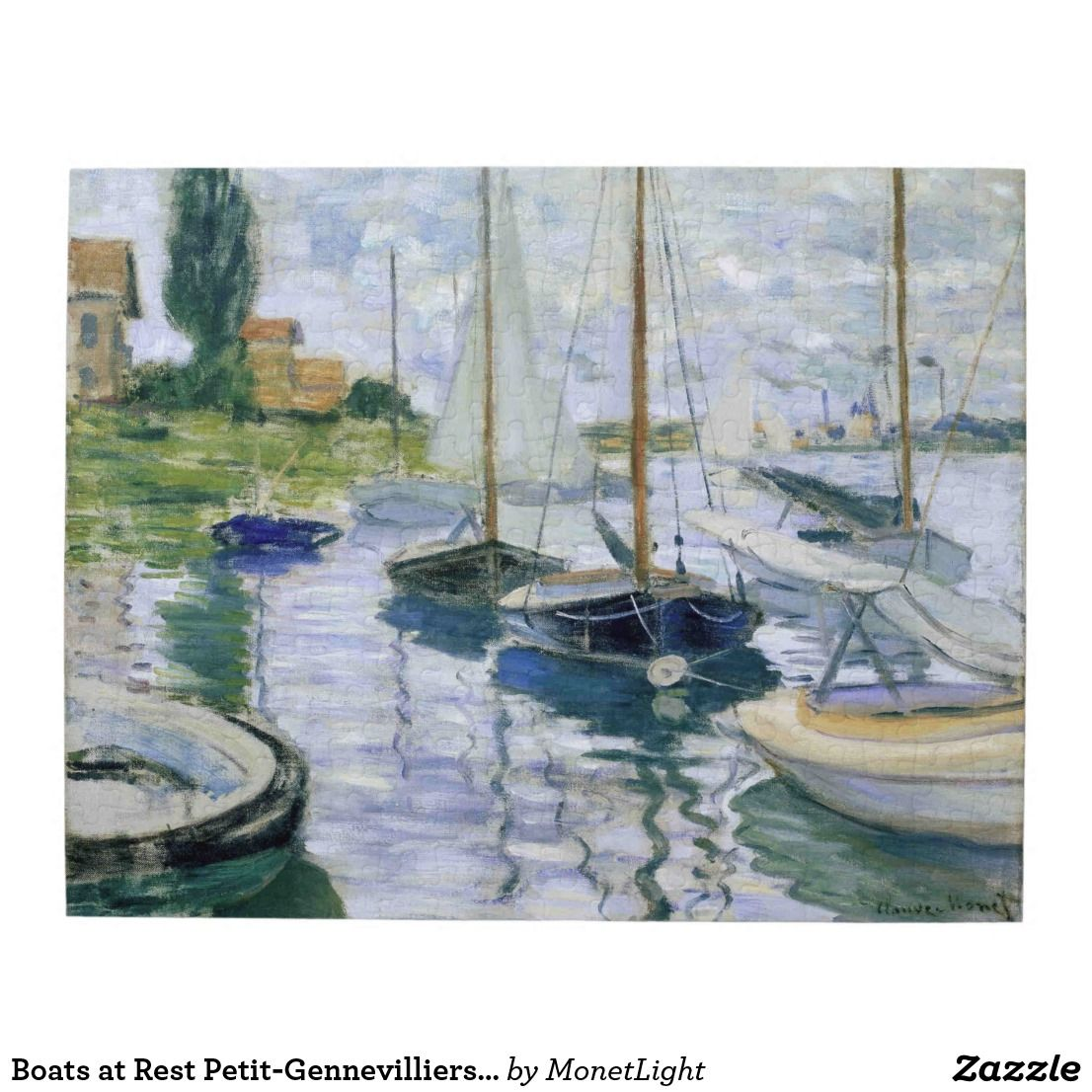Boats at Rest Petit-Gennevilliers Monet Fine Art Jigsaw Puzzle ...