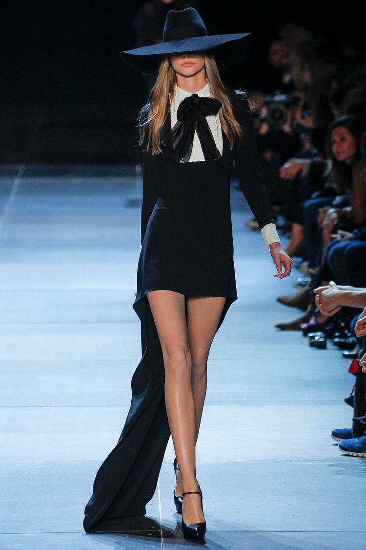 Yves Saint Laurent / YSL 2013 SS. Inspiring black dress.