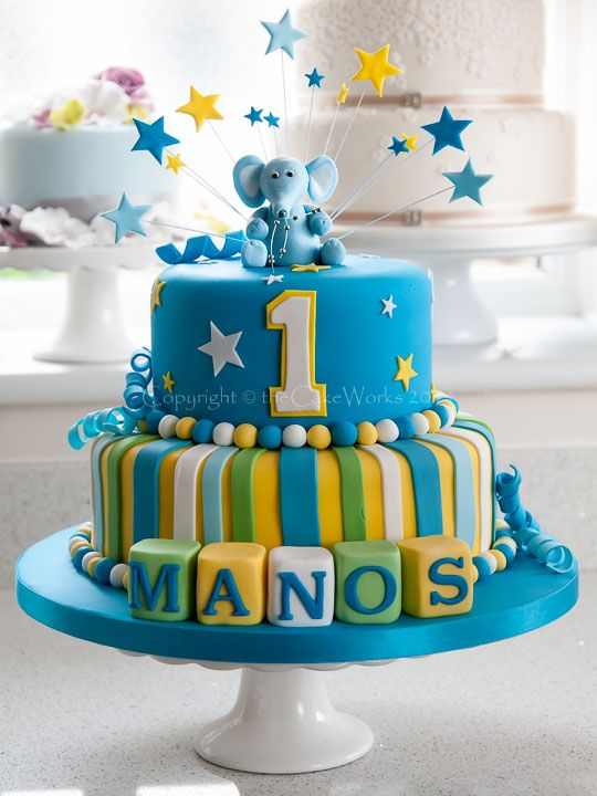 Elephant Birthday Cake Ideas Cakes Colourful Boys Birthday