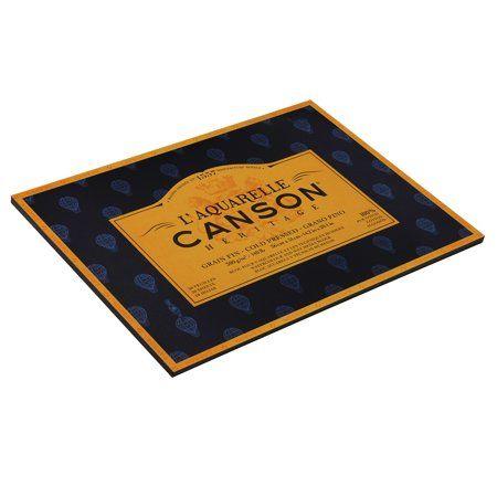 Canson L Aquarelle Heritage Watercolor Block Cold Press 14in X
