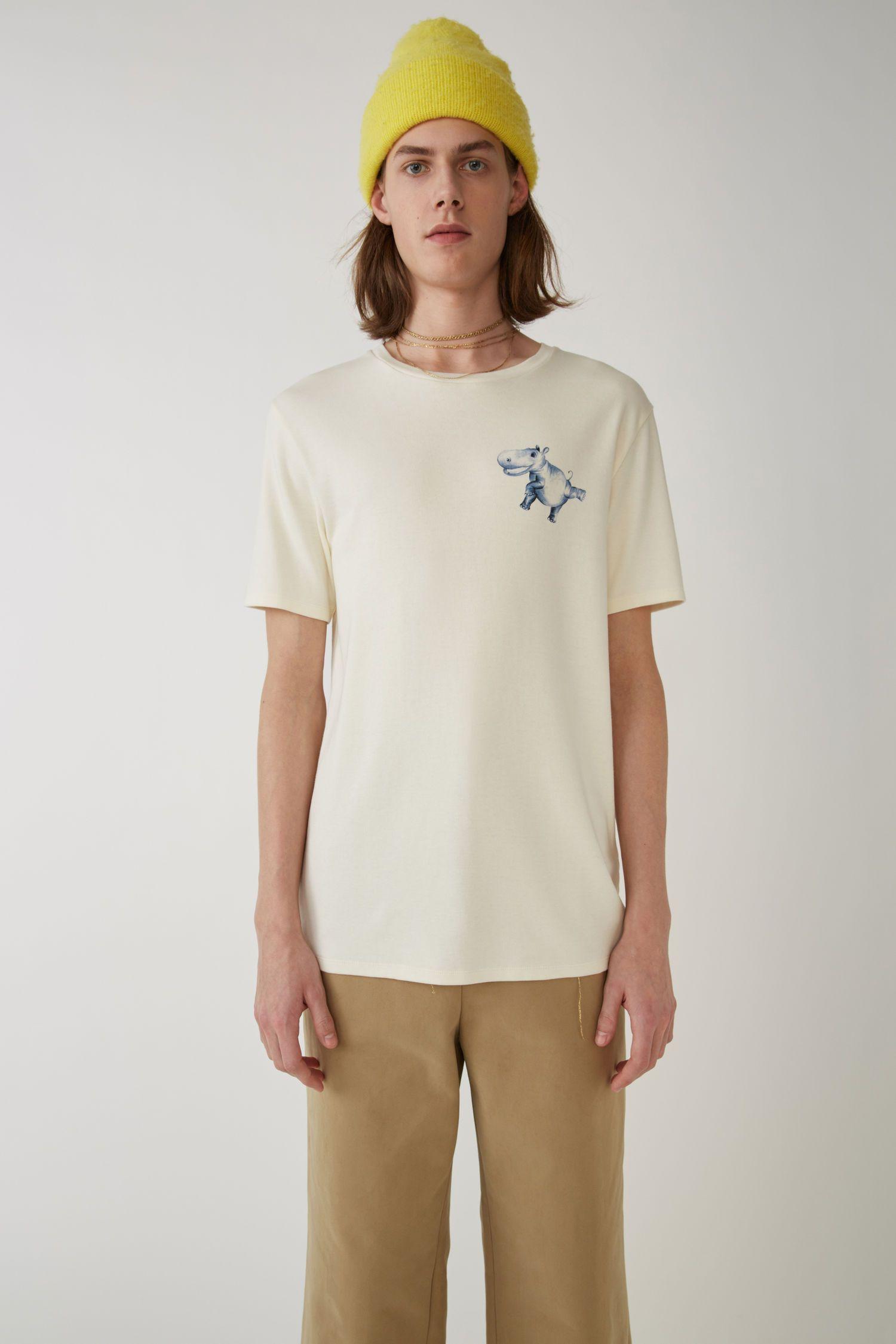 88371c7fe ACNE STUDIOS Hippo print t-shirt ivory white. #acnestudios #cloth ...