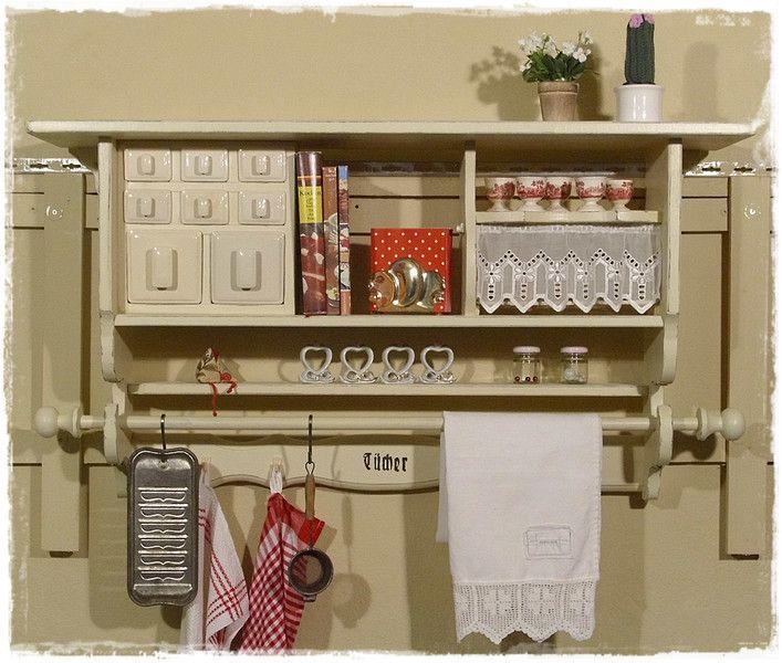 wandregal k chenregal sch ttenregal shabby von ansolece. Black Bedroom Furniture Sets. Home Design Ideas