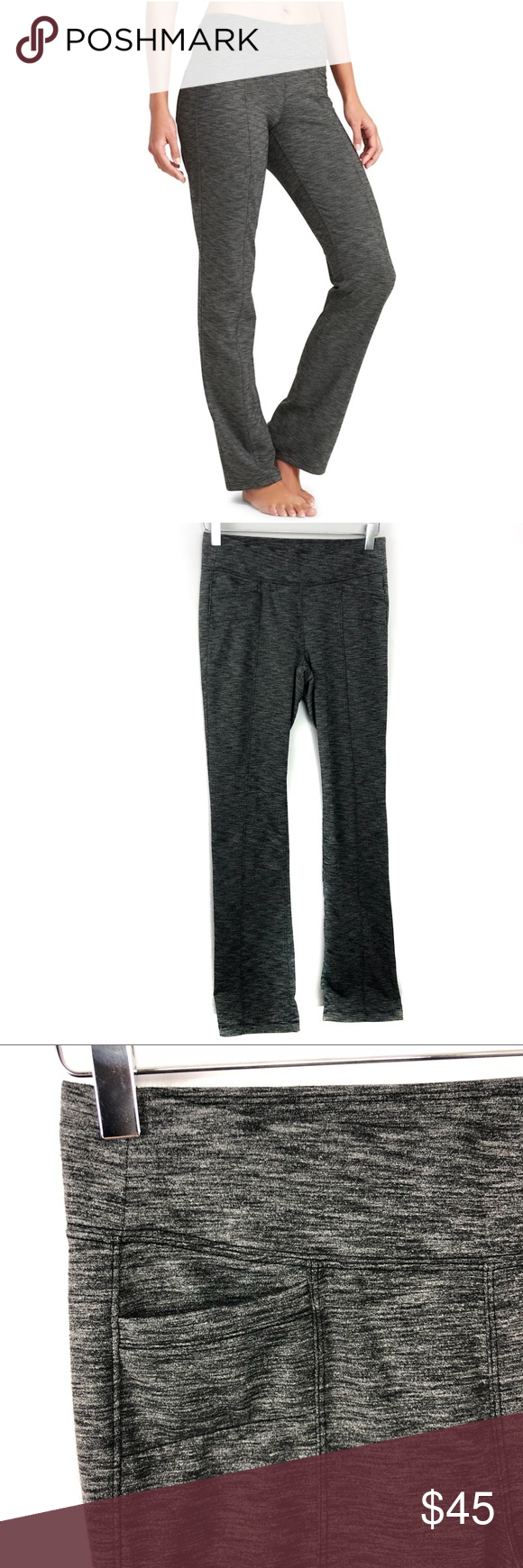 3f2784f9d0cc Athleta Metro Classic Pants Heather Black Yoga •Athleta Metro Classic Pant  Black Heather Yoga Athletic Casual •Women s Size Small •In great preowned  ...