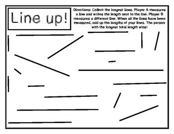 Line up! Is a simple measurement game that students can