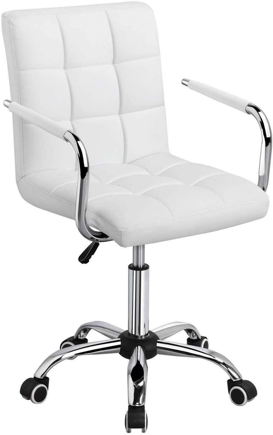 Pin By Alysha On Beauty Room Vlogging In 2020 White Desk Chair White Office Chair White Desk Chair No Wheels