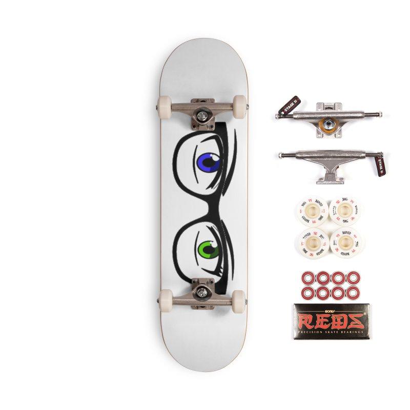 Look With Glasses In 2020 Skateboard Bearings Custom Skateboards Custom Skateboard Decks