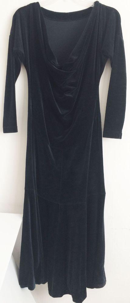 Betsey Johnson Vintage Dress Crushed Velvet Black Punk Label