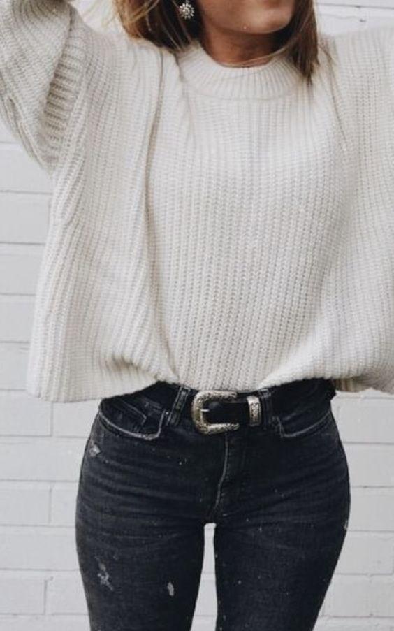 Comment porter un pull à grosse maille avec style ?