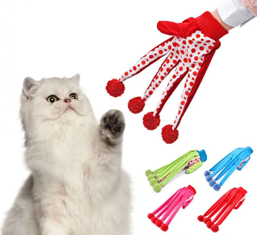 This Funny Clown Glove Cat Toy Will Let You Play With Your Cat Without Getting Scratched Pet Toys Kitten Toys Cat Toys