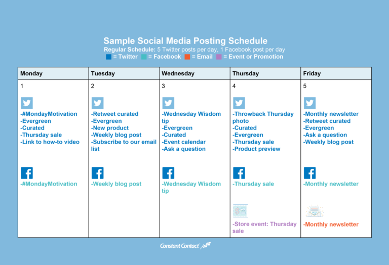 How To Create A Social Media Posting Schedule Pinterest Social - Social media posting schedule template