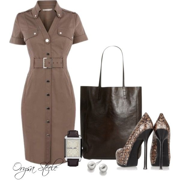 """""""Clean Lines"""" by orysa on Polyvore  minus the shoes"""