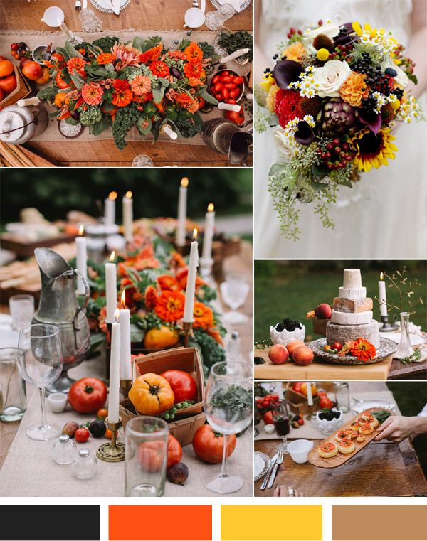 Vintage Fall Weddings Top 3 Hot Wedding Color Inspiration