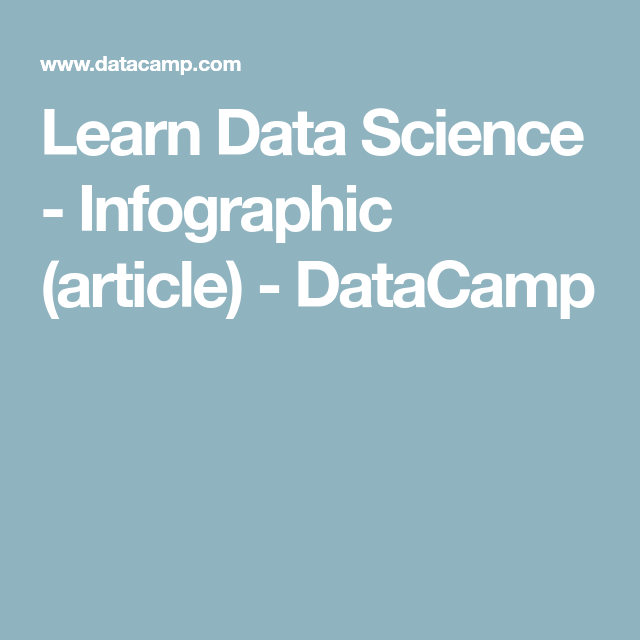 Learn Data Science - Infographic (article) - DataCamp