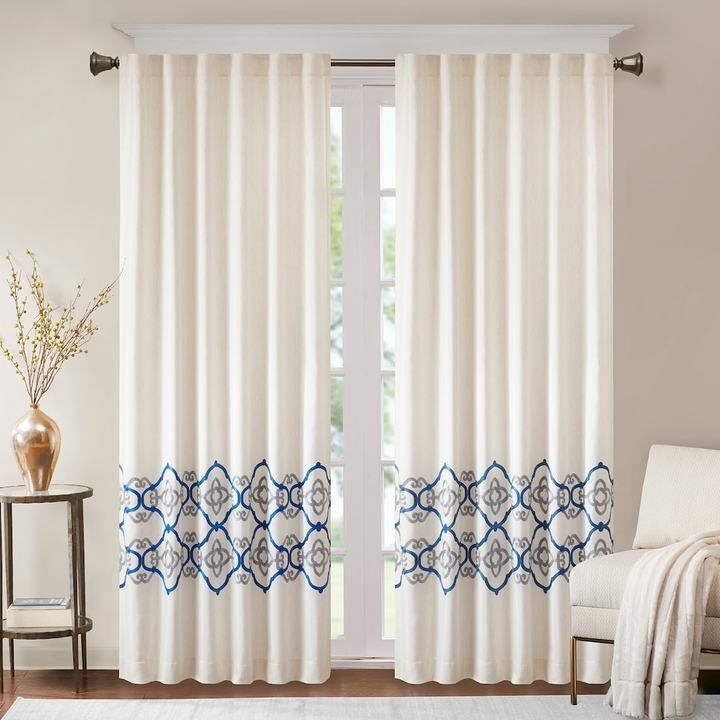 Bombay 1 Panel Minae Border Embroidered Window Curtain Products